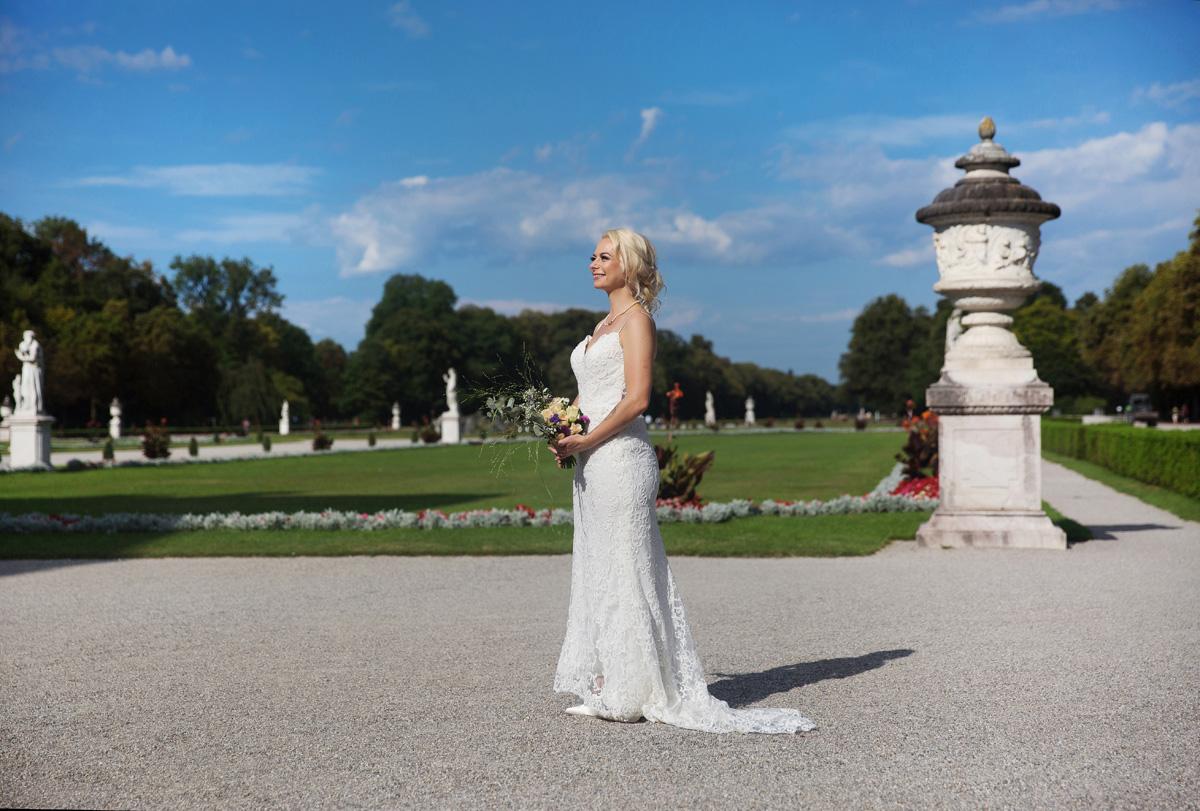Hochzeitspaar in Nymphenburg