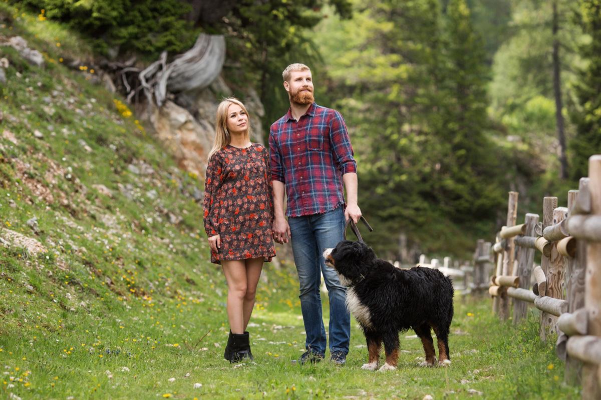 Paarfotoshooting in den Alpen