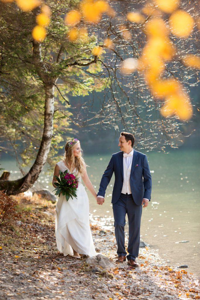 Hochzeitspaar am Eibsee